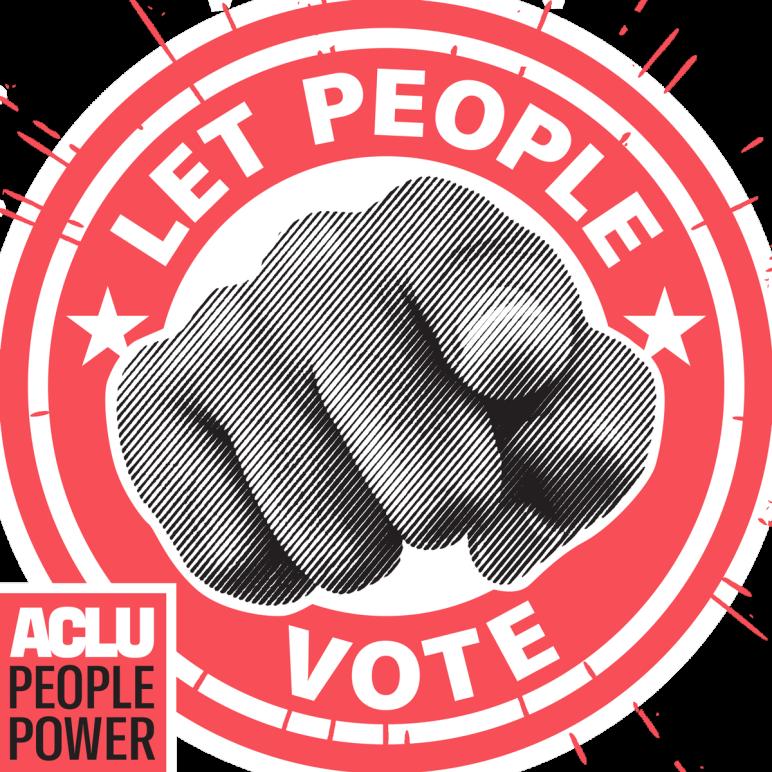 ACLU Let People Vote logo