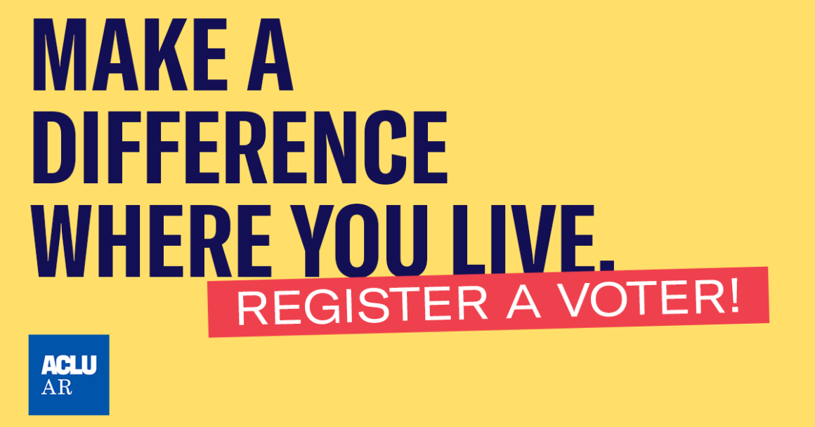 Make a difference where you live: Register a Voter!